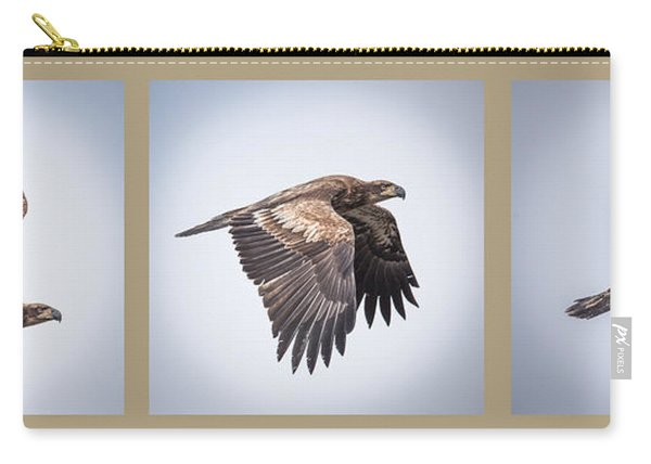 Horizontal Eagle Triptych Carry-all Pouch