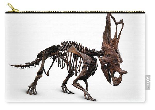 Horned Dinosaur Skeleton Carry-all Pouch
