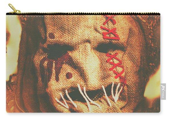 Horror Scarecrow Portrait Carry-all Pouch