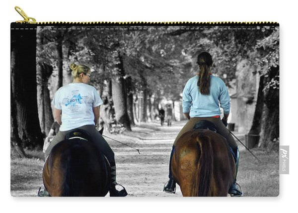 Horsback Rider In Hellbrunn Carry-all Pouch