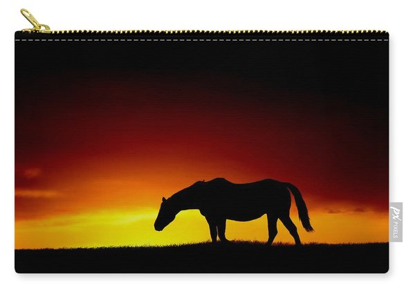 Horse At Sunset Carry-all Pouch