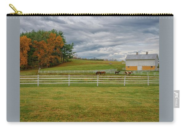 Horse Barn In Ohio  Carry-all Pouch