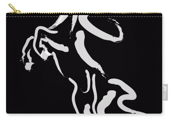 Horse -black And White Beauty Carry-all Pouch