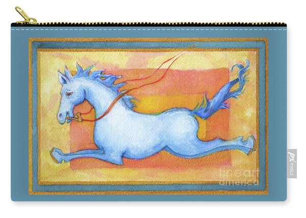 Horse Detail From H Medieval Alphabet Print Carry-all Pouch