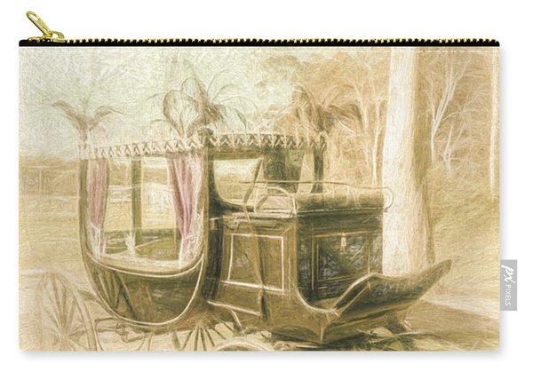 Horse Drawn Funeral Cart  Carry-all Pouch