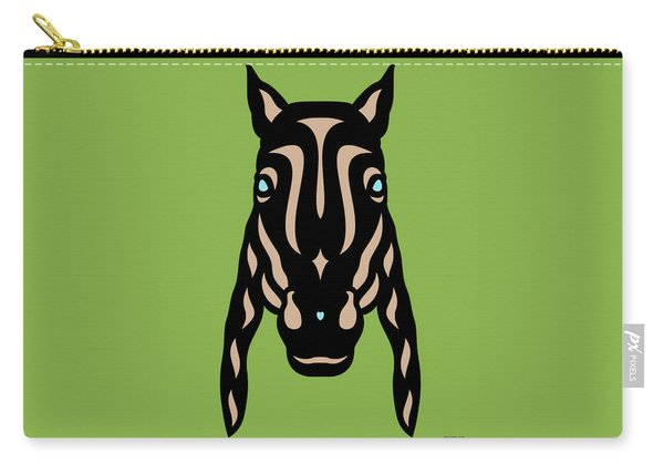 Horse Face Rick - Horse Pop Art - Greenery, Hazelnut, Island Paradise Blue Carry-all Pouch
