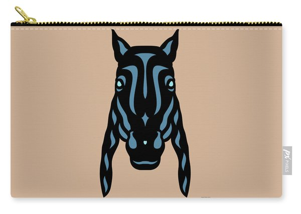 Horse Face Rick - Horse Pop Art - Hazelnut, Niagara Blue, Island Paradise Blue Carry-all Pouch