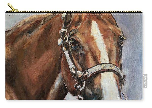 Horse Head Portrait Carry-all Pouch