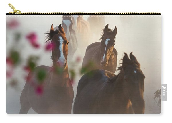 Horse Herd Coming Home Carry-all Pouch