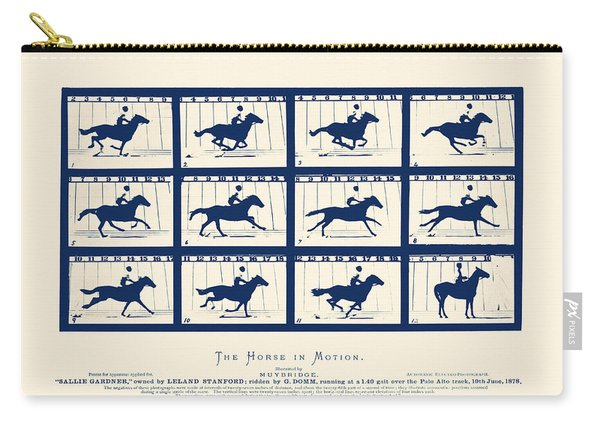 Horse In Motion - Sallie Gardner At A Gallop Carry-all Pouch
