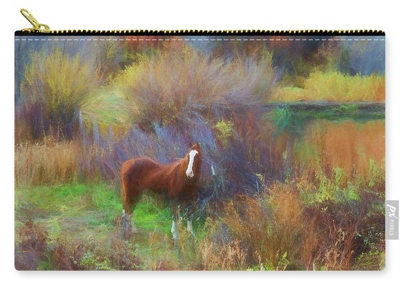 Horse Of Many Colors Carry-all Pouch
