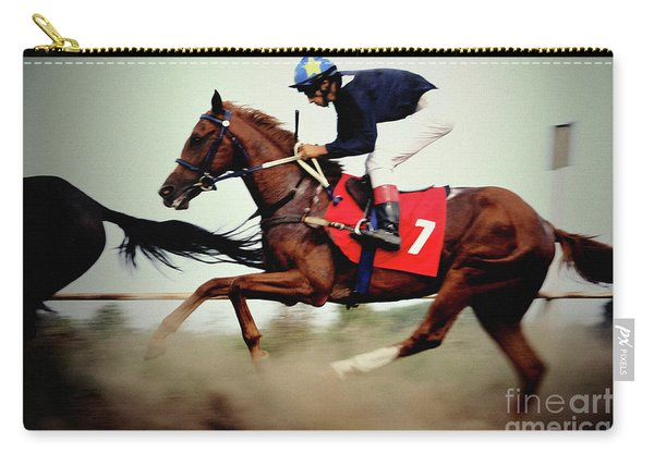 Horse Race - Motion Blurred Art Photography Carry-all Pouch