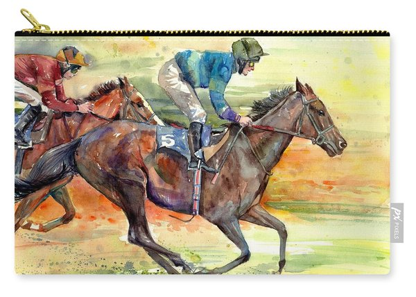 Horse Races Carry-all Pouch