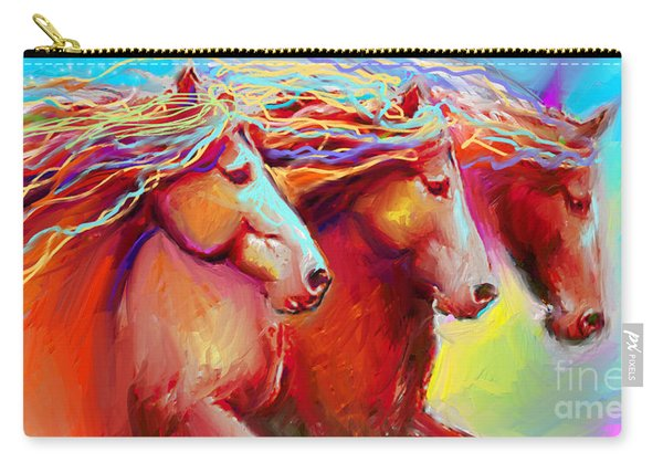 Horse Stampede Painting Carry-all Pouch