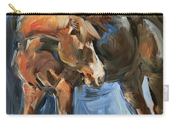 Horse Study In Oil  Carry-all Pouch