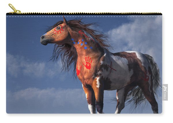 Horse With War Paint Carry-all Pouch