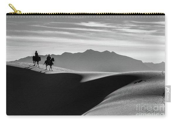 Carry-all Pouch featuring the photograph Horseback At White Sands by Susan Warren
