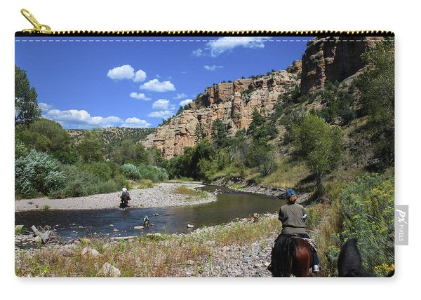 Horseback In The Gila Wilderness Carry-all Pouch