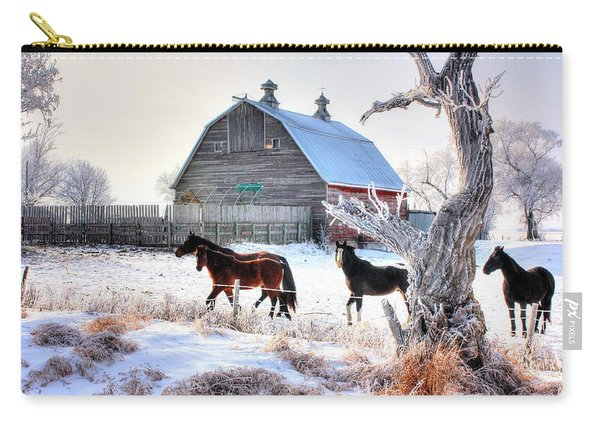 Horses And Barn Carry-all Pouch