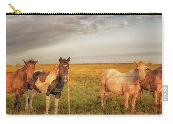 Horses At Kalae Carry-all Pouch