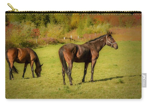 Horses In Mabou Carry-all Pouch