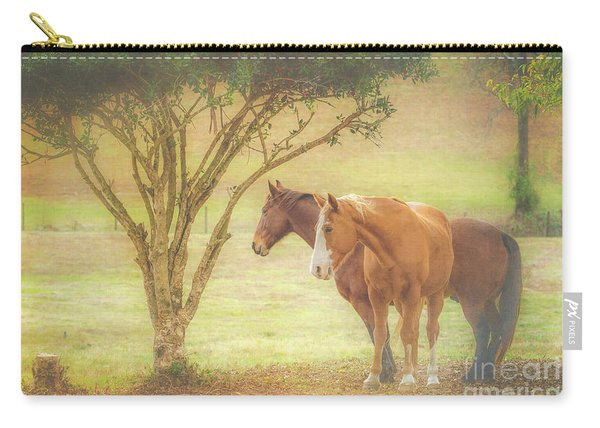 Horses In The Meadow Carry-all Pouch