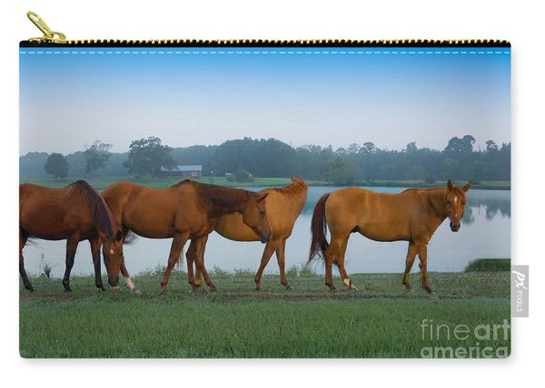 Horses On The Walk Carry-all Pouch