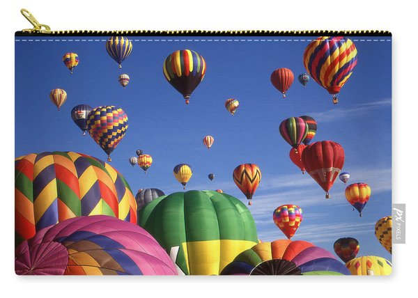Beautiful Balloons On Blue Sky - Color Photo Carry-all Pouch