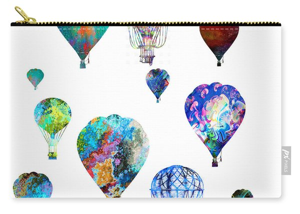 Carry-all Pouch featuring the photograph Hot Air Balloons by Michael Colgate