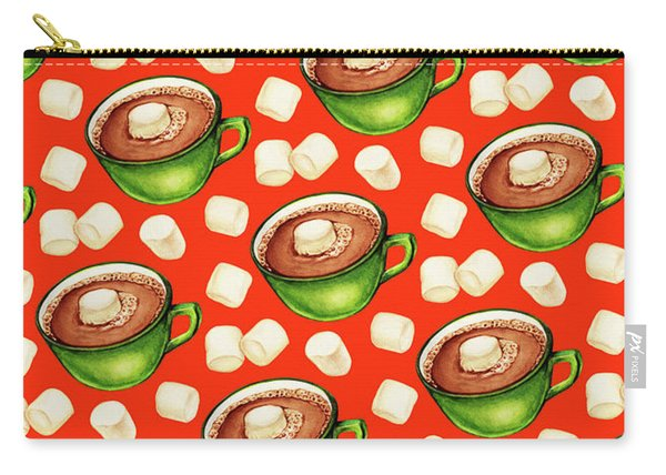 Hot Cocoa Pattern Carry-all Pouch
