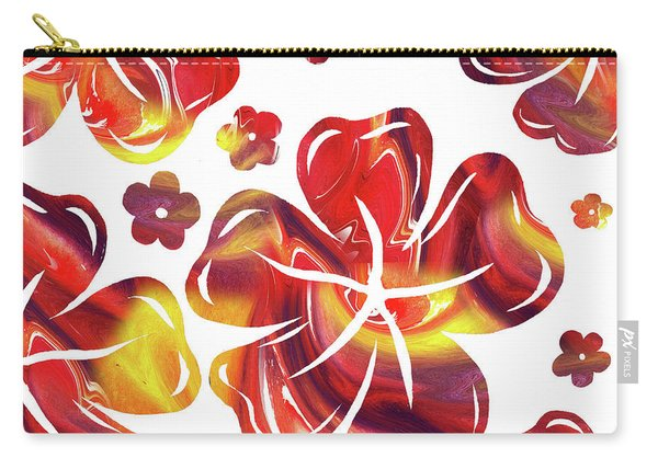 Hot Flowers Dancing Silhouettes Carry-all Pouch