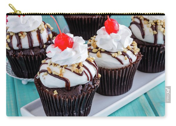 Hot Fudge Sundae Cupcakes Carry-all Pouch