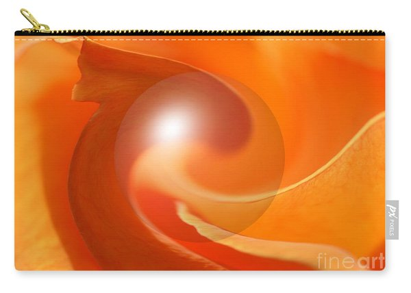 Hot Orange Globe Carry-all Pouch