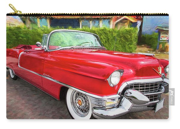 Hot Red 1955 Cadillac Convertible Carry-all Pouch