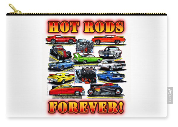 Hot Rods Forever Carry-all Pouch