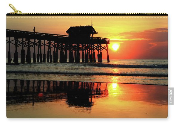 Hot Sunrise Over Cocoa Beach Pier  Carry-all Pouch