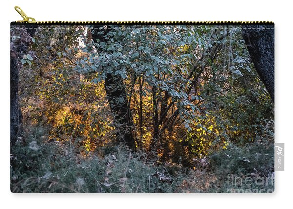 Hot Sunset In The Forest Carry-all Pouch