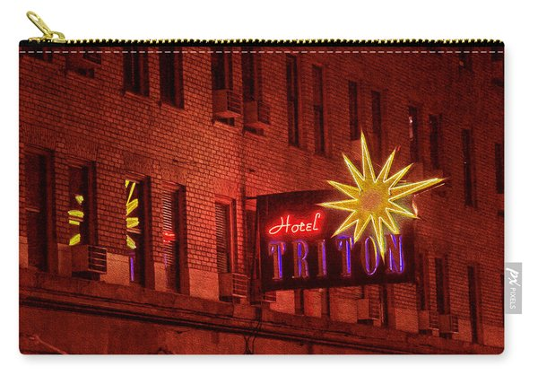 Hotel Triton Neon Sign Carry-all Pouch