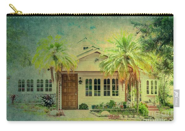 House Behind Two Palm Trees Carry-all Pouch