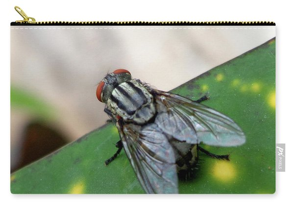 House Fly On Leaf Carry-all Pouch