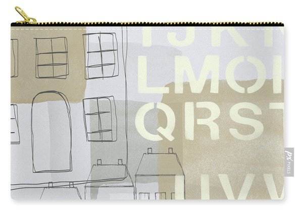 House Plans 2- Art By Linda Woods Carry-all Pouch