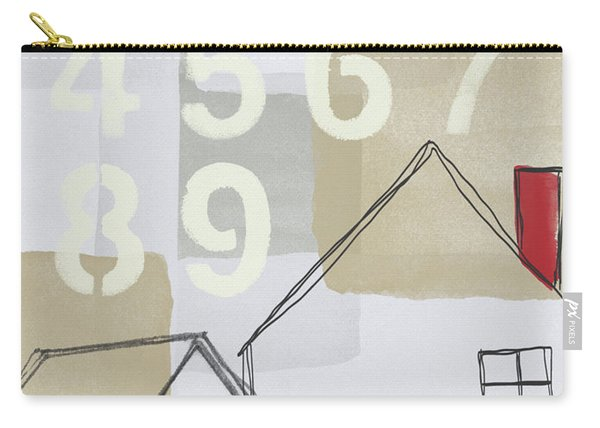 House Plans 3- Art By Linda Woods Carry-all Pouch