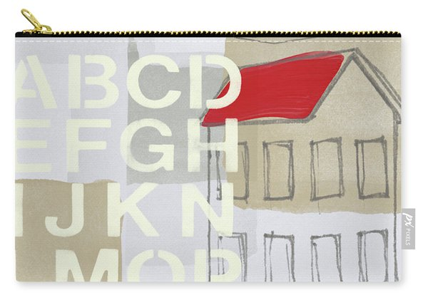 House Plans- Art By Linda Woods Carry-all Pouch