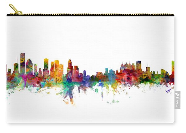 Houston Detroit Skylines Mashup Carry-all Pouch
