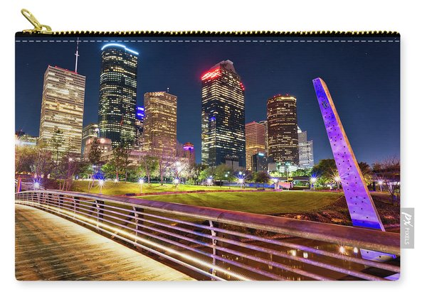 Houston Skyline From Buffalo Bayou Pedestrian Bridge Carry-all Pouch