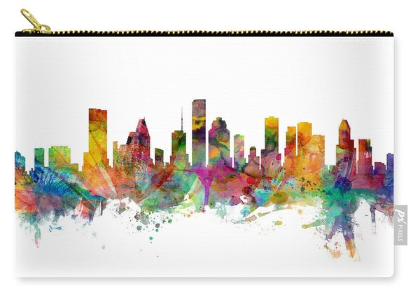 Houston Texas Skyline Panoramic Carry-all Pouch