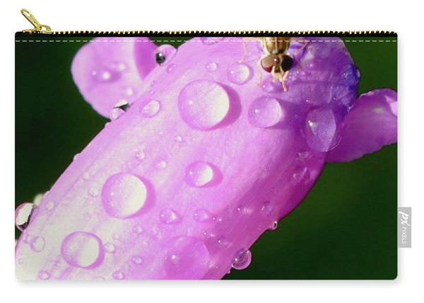 Hoverfly On Pink Flower Carry-all Pouch