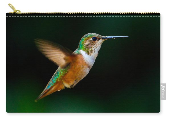 Hovering Allen's Hummingbird Carry-all Pouch