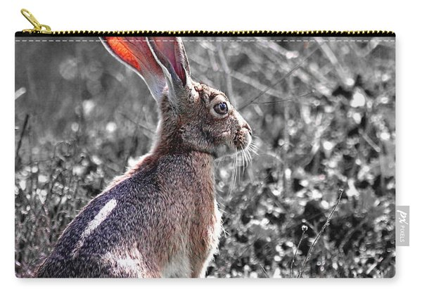 How About Two Out Of Three . Desaturated In Portrait Carry-all Pouch