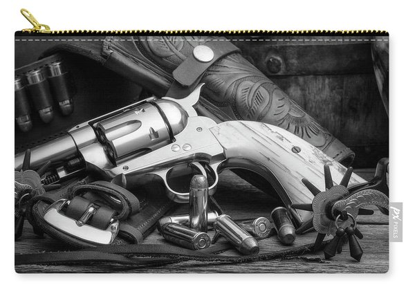 How The West Was Won In Black And White Carry-all Pouch